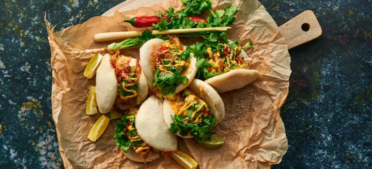 Steam buns med spicy tempuratorsk