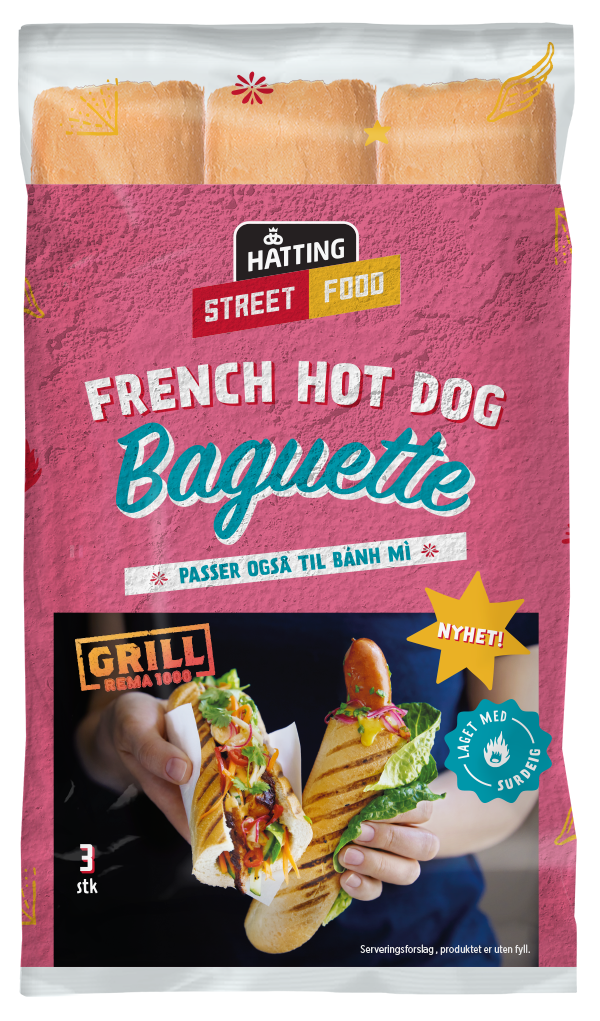 French Hot Dog Baguette
